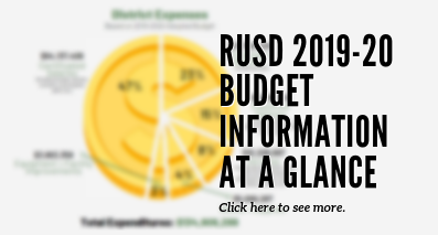 Graphic with link to budget info